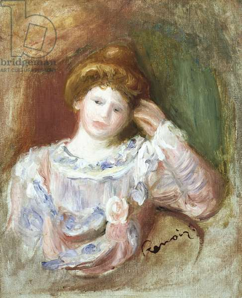 Bust of a woman, c.1907 (oil on canvas)