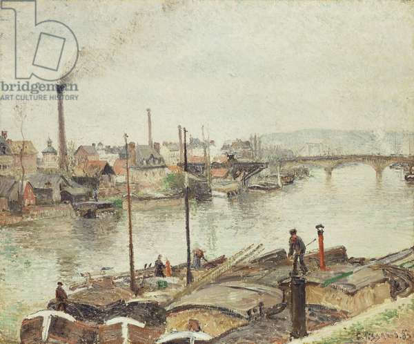 The Port of Rouen, 1883 (oil on canvas)