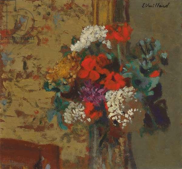 Geraniums and Guelder Roses; Geraniums et Boules-de-Neige, c.1910 (oil on board)
