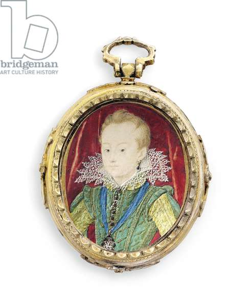 King Charles I when Duke of York, as a boy (vellum in later gilt metal frame)
