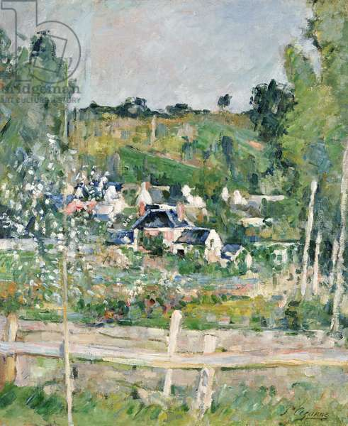 A View of Auvers-sur-Oise, The Fence, c.1873 (oil on canvas)