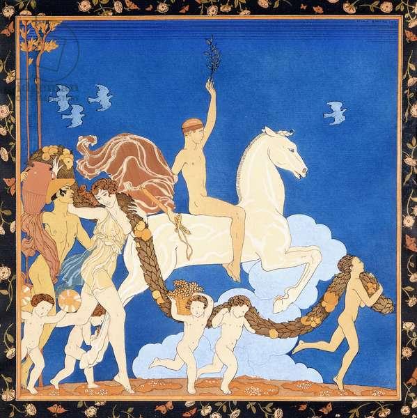 La Cheval Blanc, c.1917-1920 (pochoir)