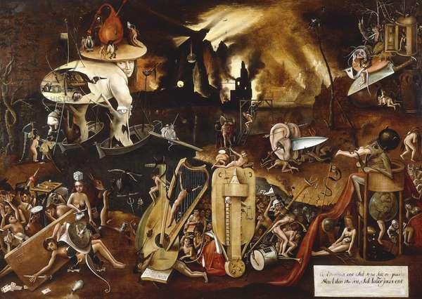 Hell,  (oil on panel)
