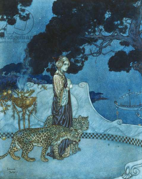 Circe, 1911 (watercolour, gouache and pen and black ink on paper)