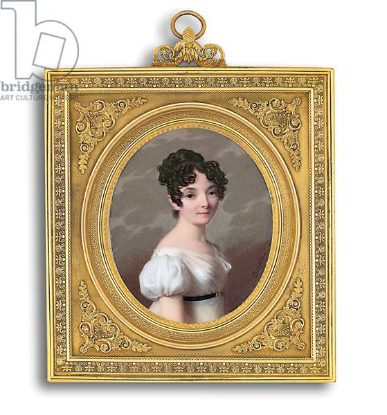 A Young Lady (w/c on ivory)