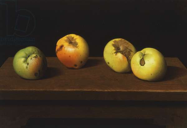 Apples on a Table I, 1953 (tempera on panel)
