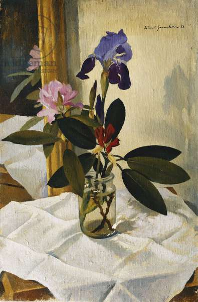 Iris and Rhododendrons, 1953 (oil on canvas)
