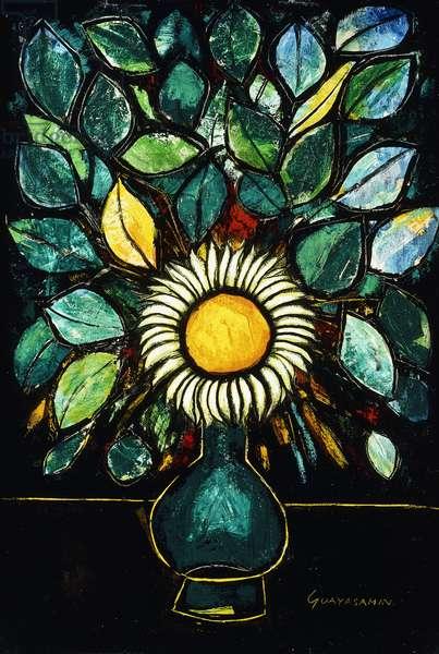 Flowers; Flores (oil on canvas)