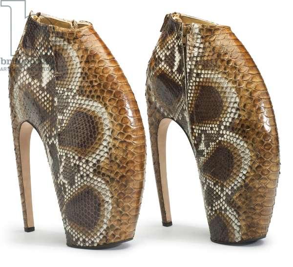 A Pair of Python Armadillo Boots, 2015 (python skin)