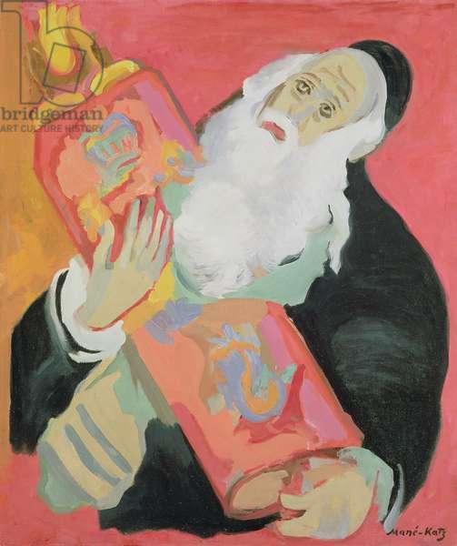 Rabbi with Torah (oil on canvas)