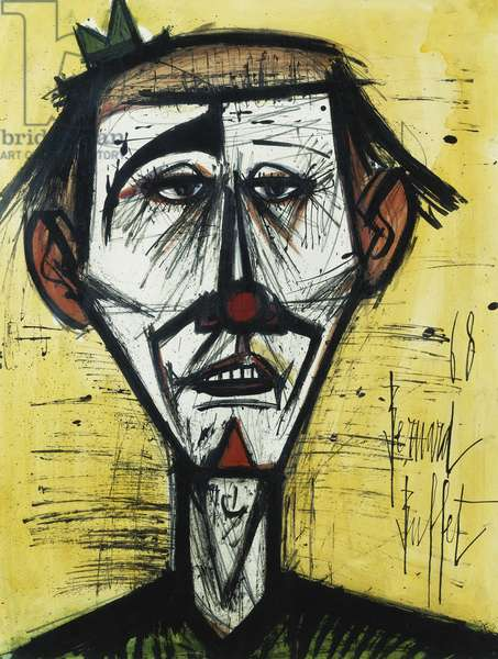 The Clown; Le Clown, 1968 (gouache and black ink on paper)