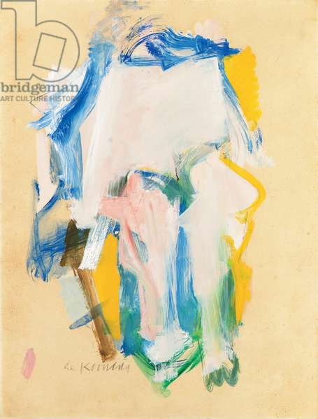 Woman III, 1961 (oil on paper laid down on canvas)