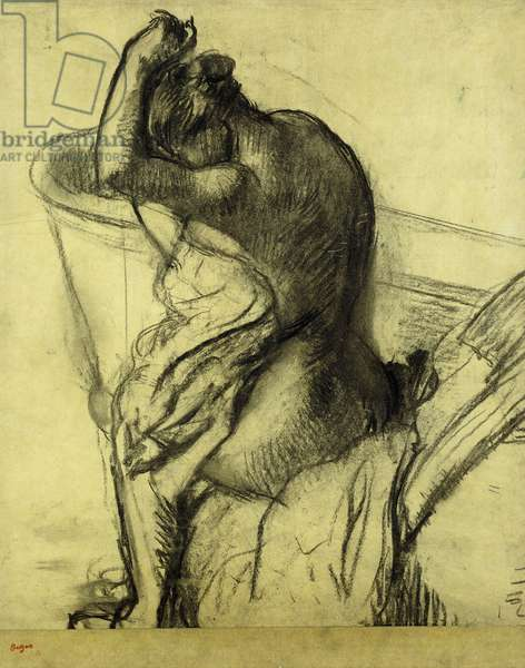 After the Bath; Apres le Bain, 1899 (charcoal on paper)