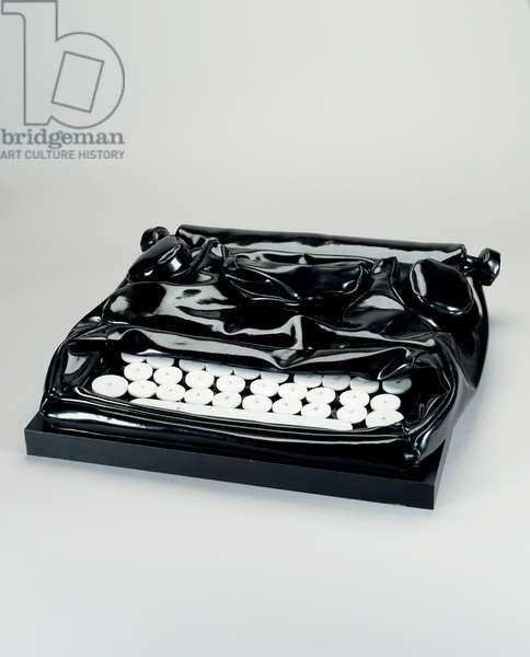 Soft Typewriter, 1963 (vinyl filled with kapok, plexiglas & nylon cord)