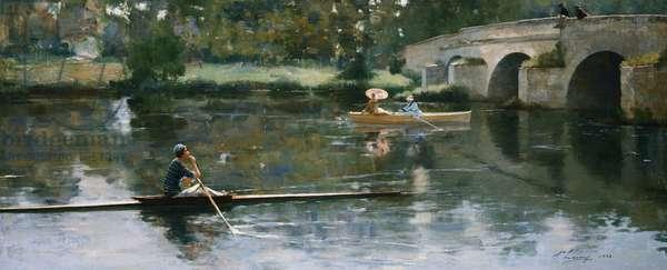 The Bridge at Grez, 1883 (oil on canvas)