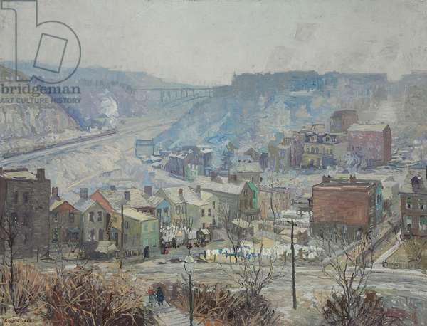 Panther Hollow, Pittsburgh, c.1919 (oil on canvas)