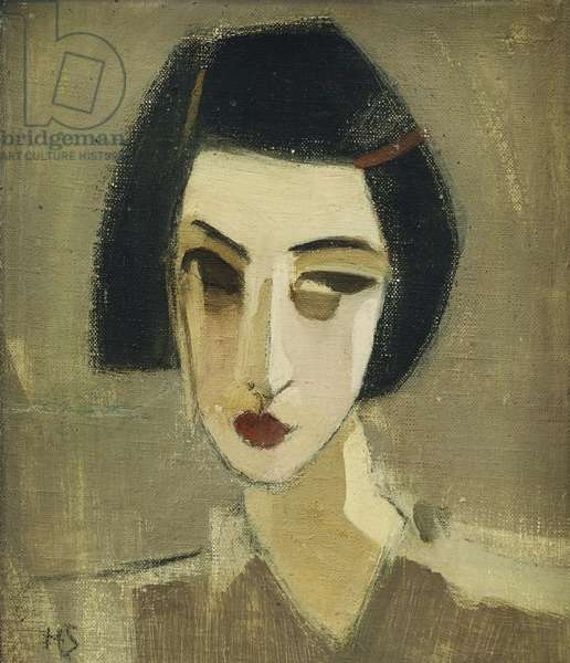 Portrait of Gota, 1933 (oil on canvas laid on board)