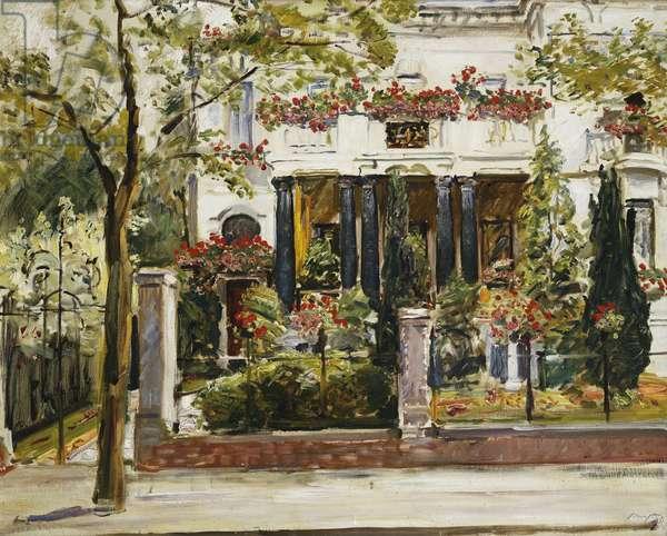 The Front Garden of the Steinbart Villa in Berlin; Der Vorgarten der Steinbartschen Villa in Berlin, 1911 (oil on canvas)
