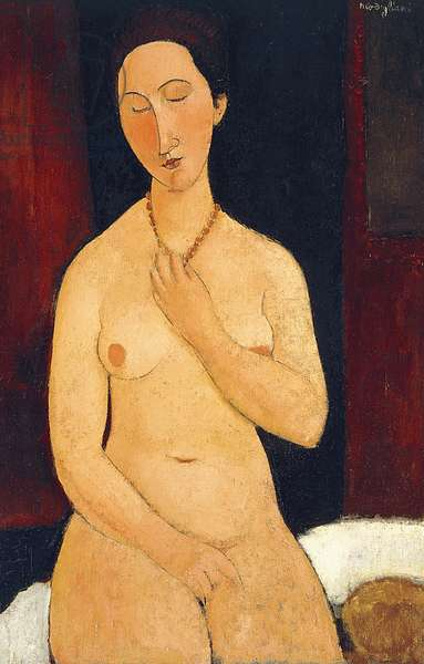Sitting Nude with Necklace, 1917 (oil on canvas)