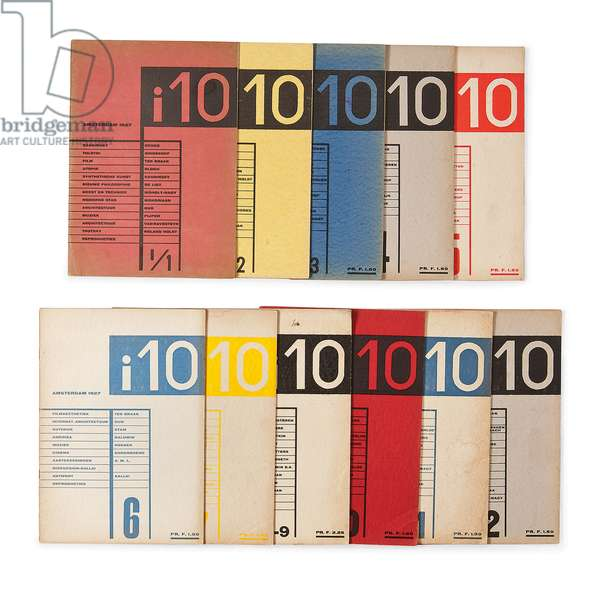 Issues of Volume I of the magazine 'i10 International Revue', 1927 (colour lithograph)