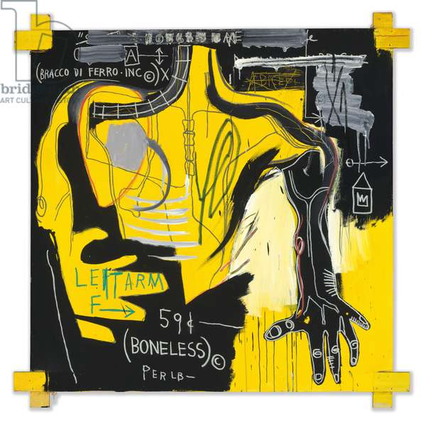 Untitled (Bracco di Ferro), 1983 (acrylic and oilstick on canvas)