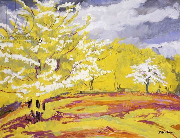 May, Epping Forest, (gouache)