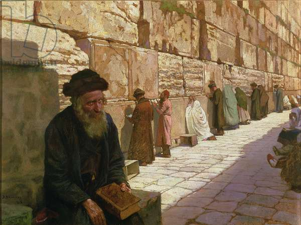 The Wailing Wall, in Jerusalem, 1913 (oil on canvas)