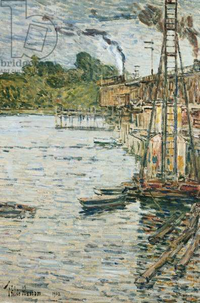 The Mill Pond, Cos Cob, Connecticut, 1902 (oil on canvas)