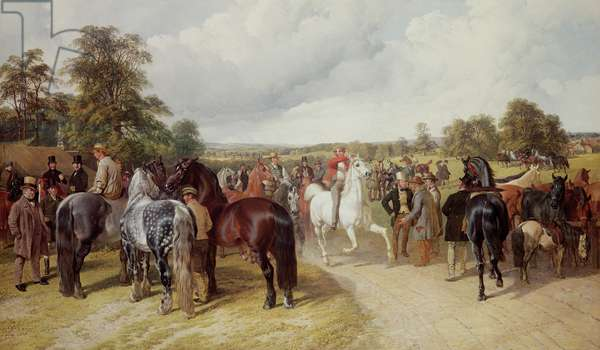 English Horse Fair on Southborough Common (oil on canvas) (see also 167088)