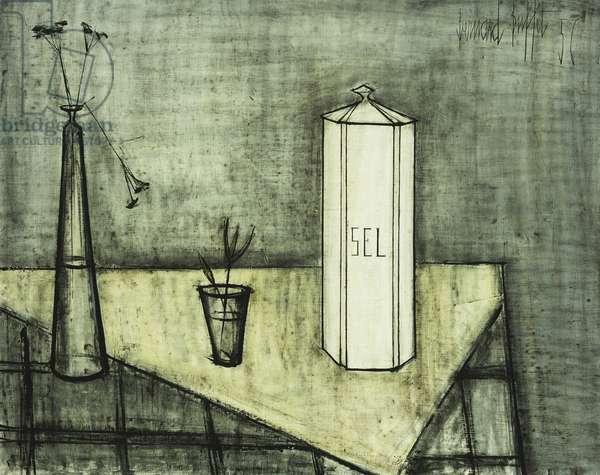 Still-life with a Box of Salt; Nature Morte a la Boite a Sel, 1956 (oil on canvas)