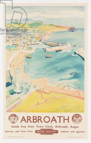 Arbroath, poster advertising British Railways, c.1950 (colour litho)