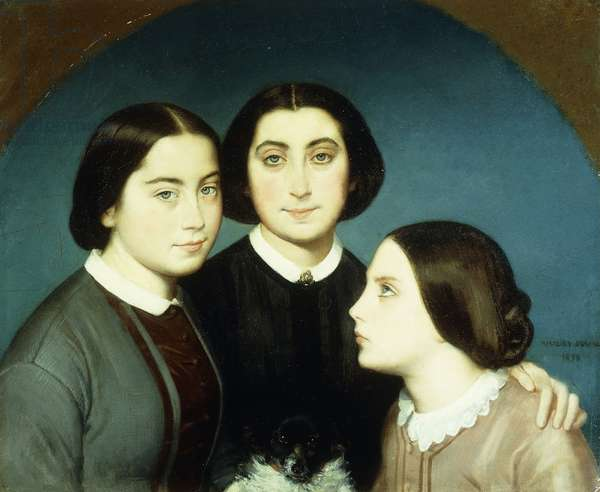 Portrait of the Three Daughters of Charles Naudier, 1854 (oil on canvas)