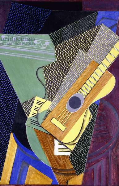 Guitar on a Table; Guitare sur une Table, 1916 (oil on canvas)