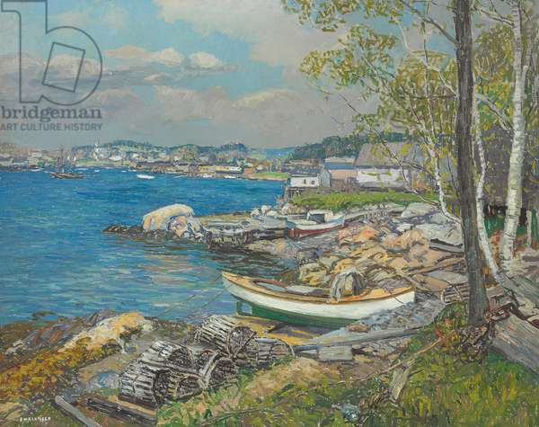 Spring in the Harbor, c.1927 (oil on canvas)