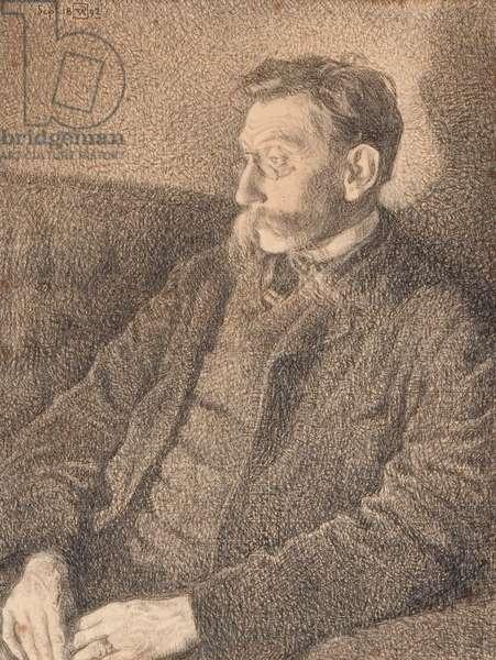 Portrait of Emile Verhaeren, 1892 (charcoal on paper)