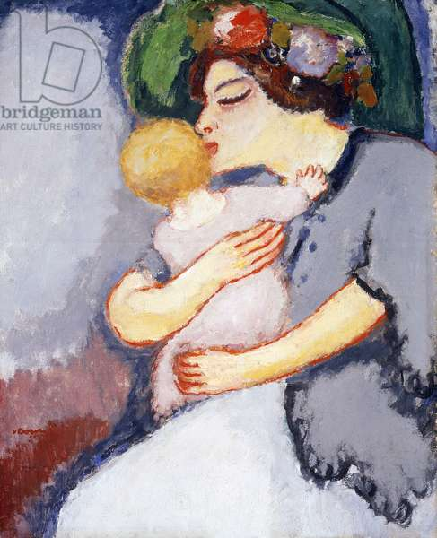 My Child and Her Mother, 1908 (oil on canvas)