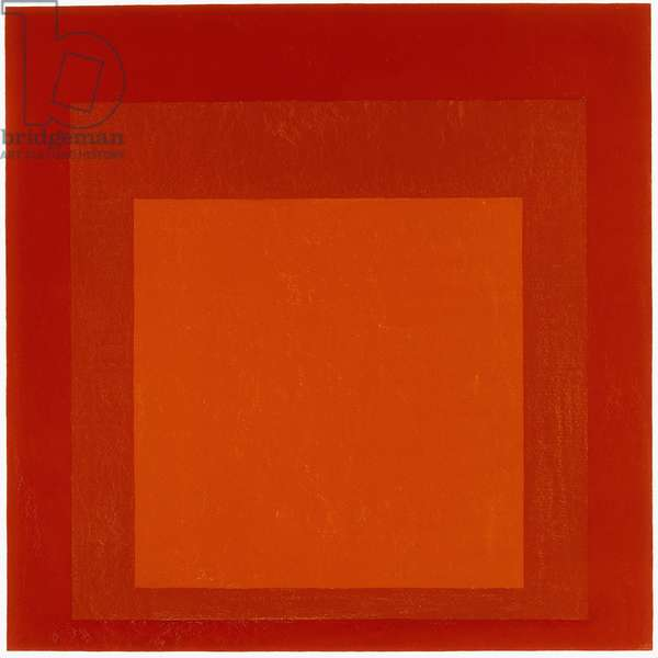 Homage to the Square - High Center, 1967 (oil on masonite)