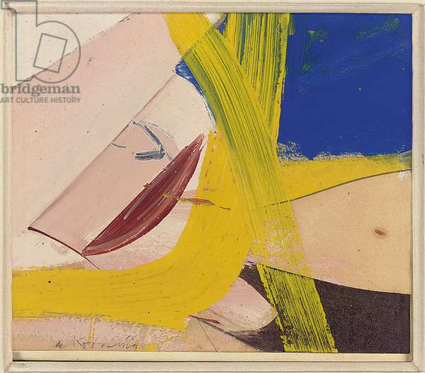 Small Painting 8, 1958 (oil & graphite on paper collage on canvas)