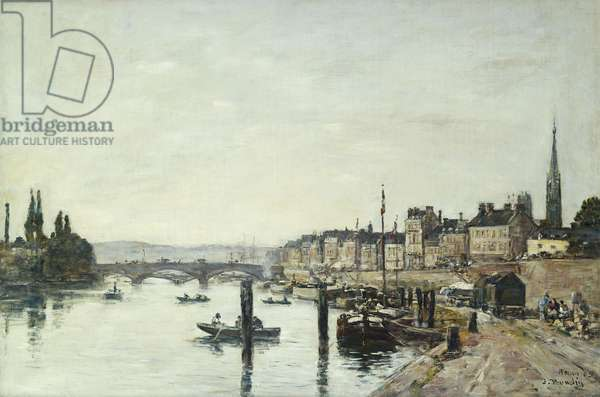 Rouen; La Seine et le Pont Corneill, 1895 (oil on canvas)