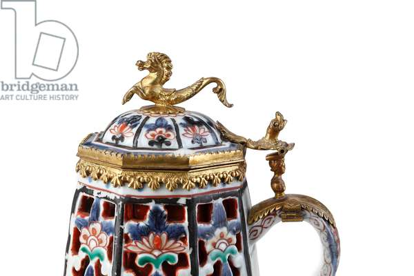 A Rare Elegantly Mounted Imari Coffee Pot and Cover (ceramic)