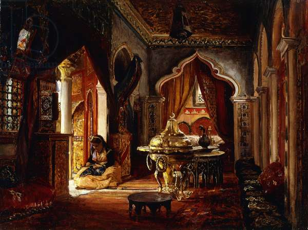 Within the Seraglio, 1879 (oil on canvas)