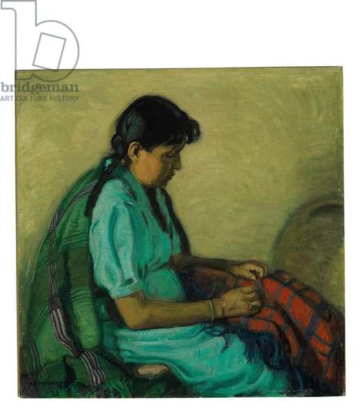 Manvelita Mending Shawl (oil on canvas)