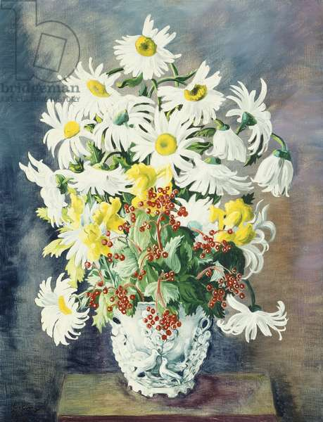 White daisies in a vase, 1948 (oil on canvas)