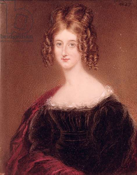 Augusta Leigh, Byron's Sister (oil on canvas)