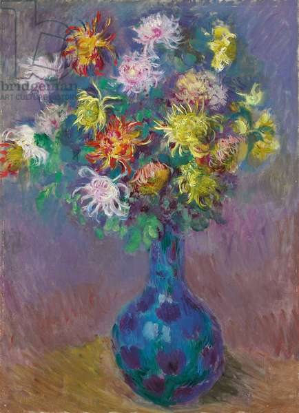 Vase of Chrysanthemums, 1882 (oil on canvas)
