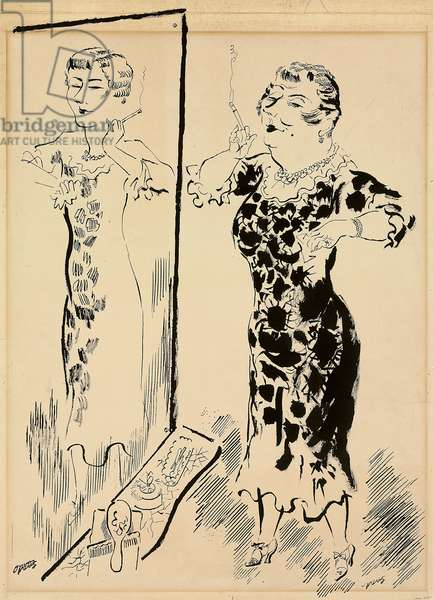 Self Image, c.1930-1932 (pen, brush and ink on paper)