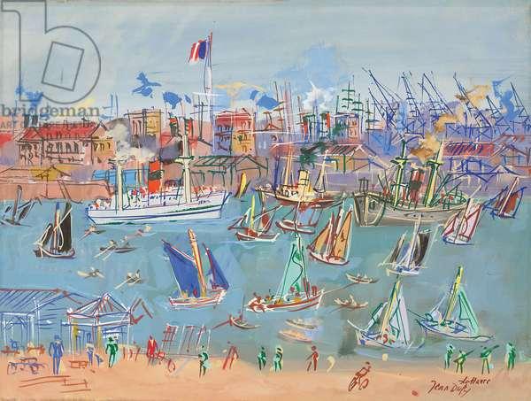 Le Havre, c.1955 (gouache and watercolour on paper)