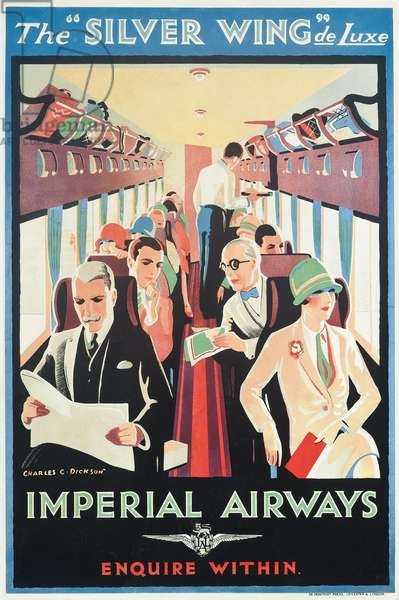Poster advertising Imperial Airways (colour lithograph)