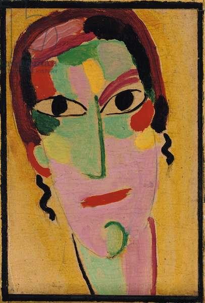 Mystical Head: Completely Awake, c. 1917 (oil on cardboard)