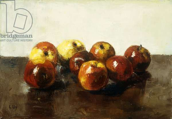 A Still Life of Apples, (oil on canvas)